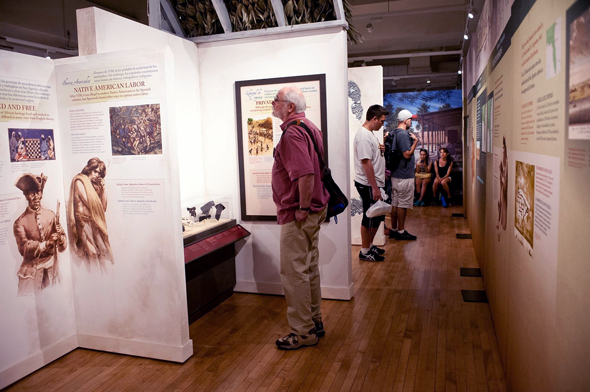 Patrons looking at the Exhibits inside the Governors House Cultural Center Museum