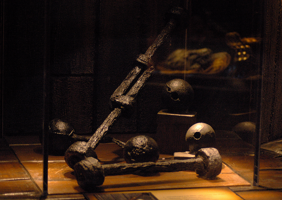 Artifacts inside the St. Augustine Pirate Treasure Museum