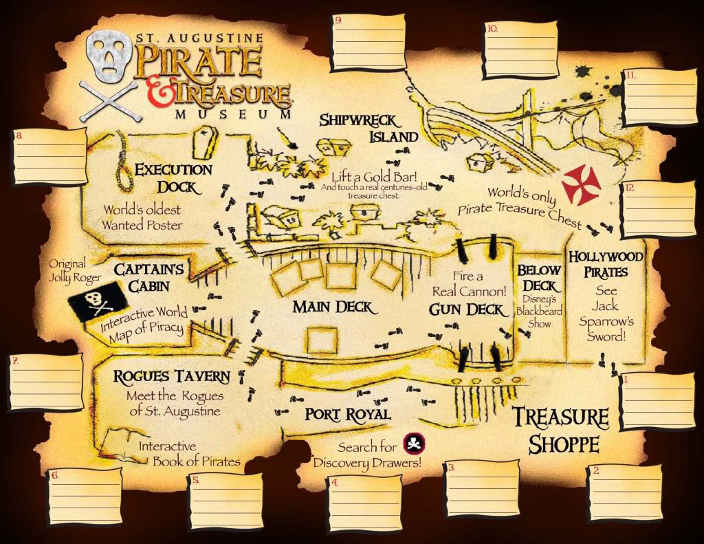 St. Augustine Pirate Treasure Museum map