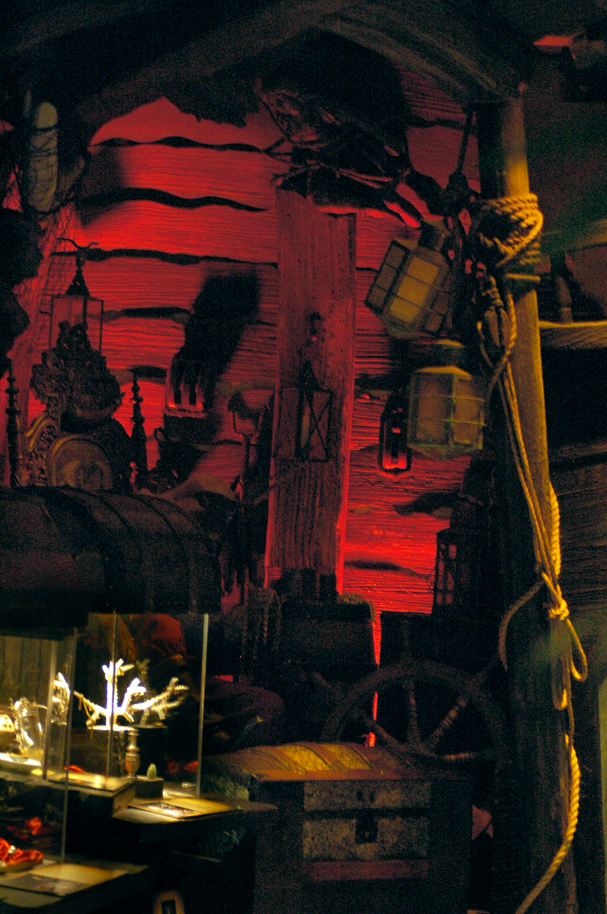A room displayed inside the  St. Augustine Pirate Treasure Museum