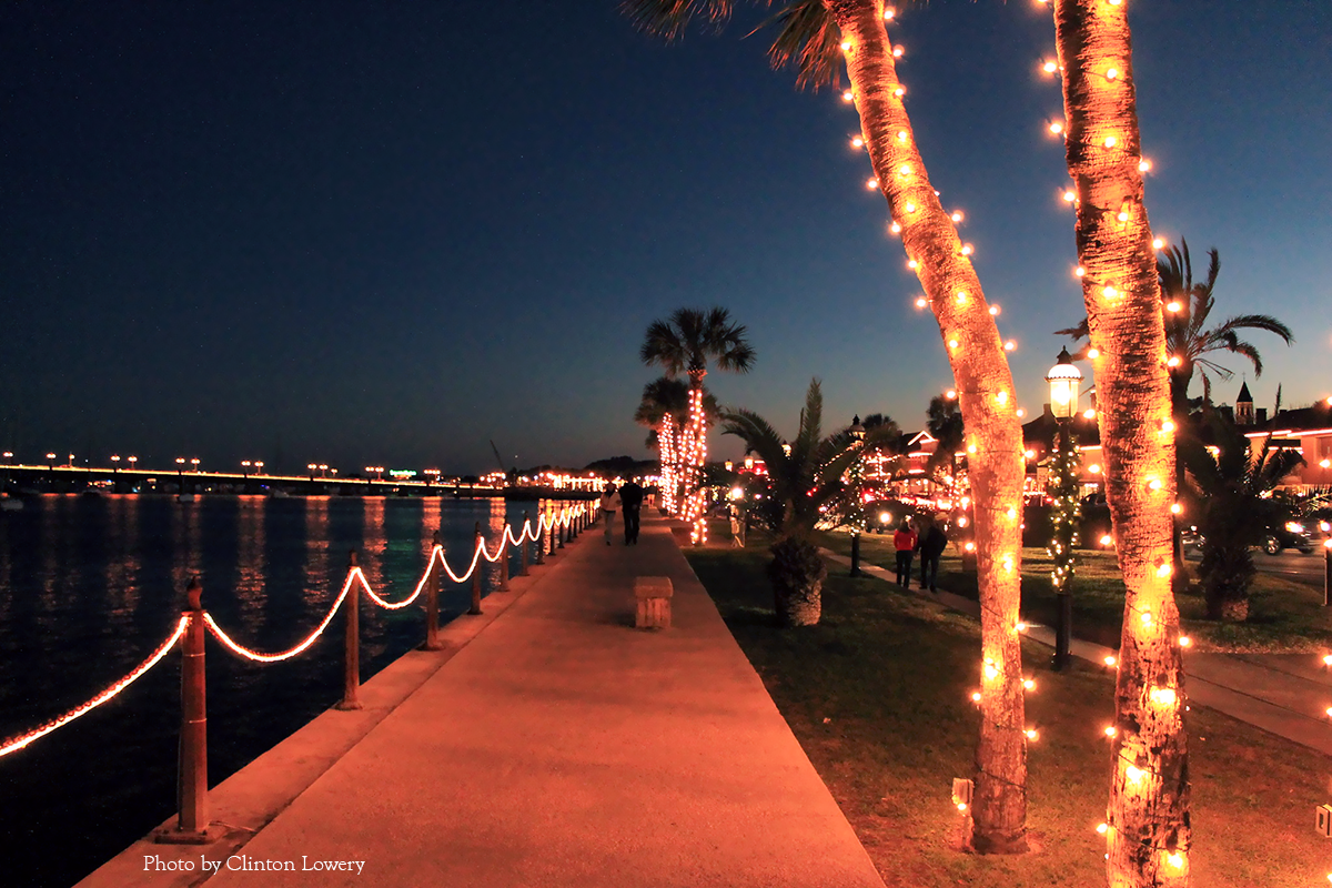 Picture capturing the Nights of Lights Festival on the bay front