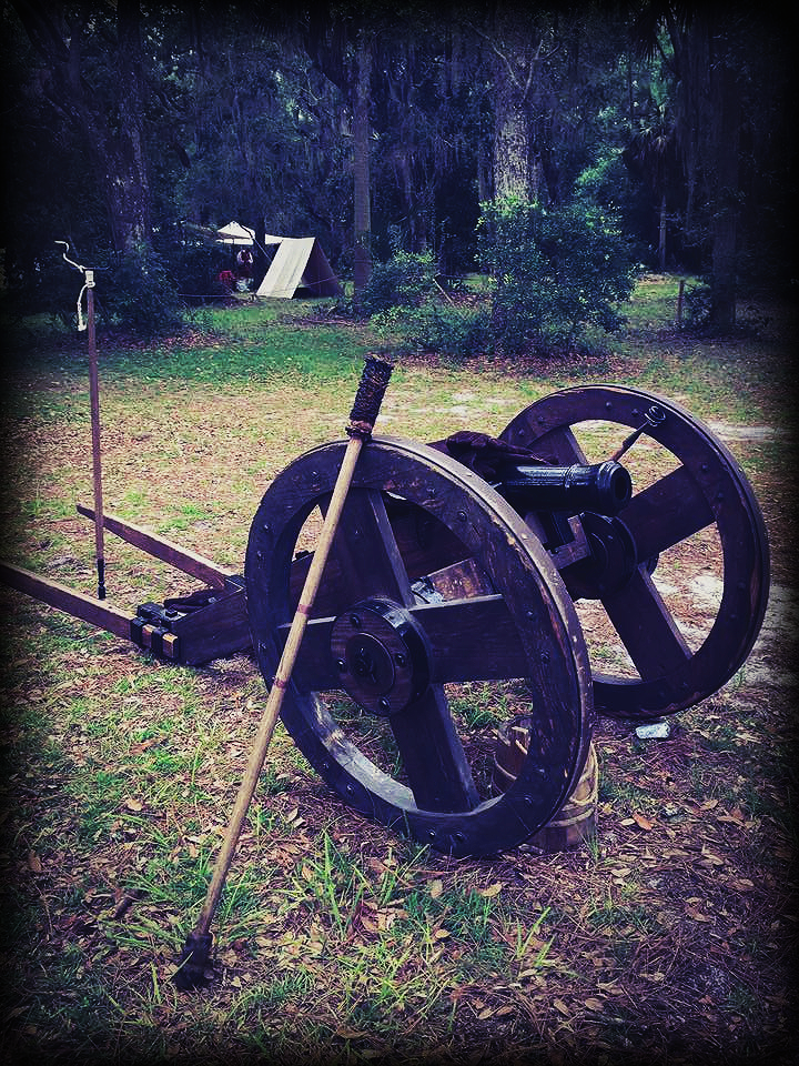 Canon replica onsite at Fort Mose Historical Society