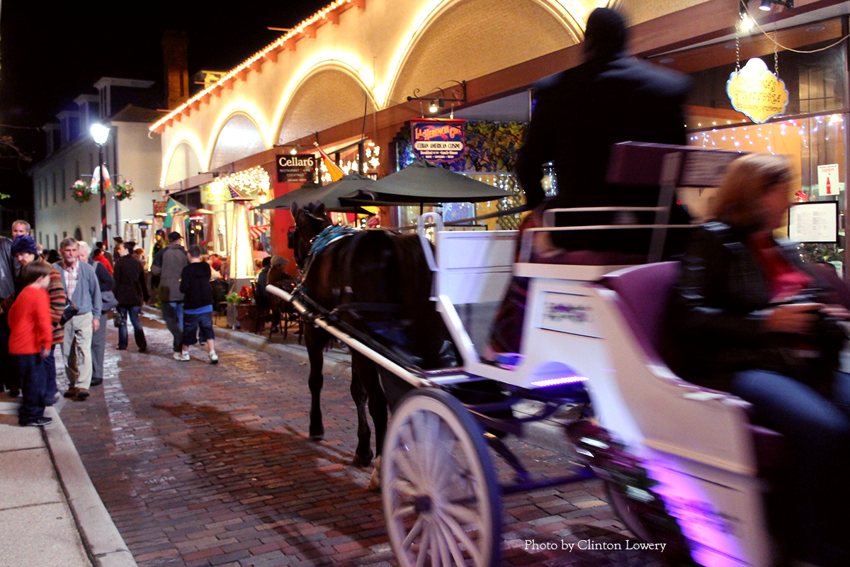 Carriage ride lit up for the Nights of Lights festival