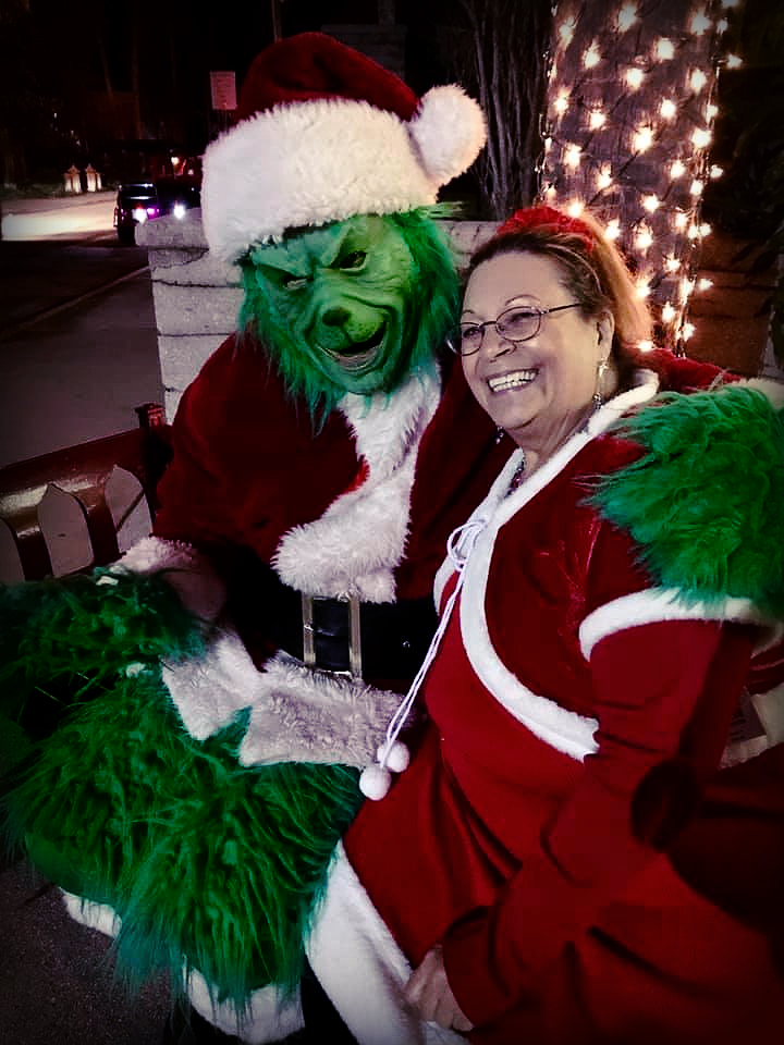 The Grinch aboard The Tasting Tour Nights of Lights Holiday Tour
