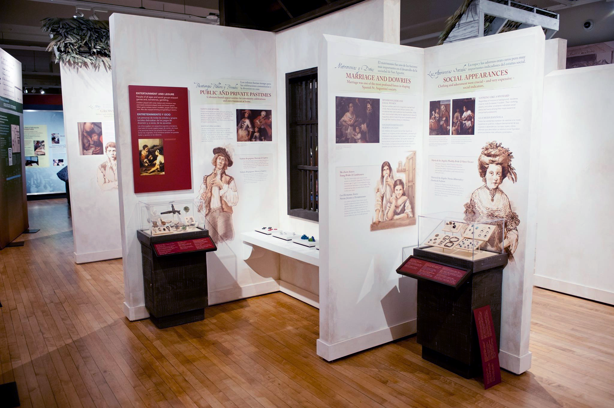 Exhibits inside the Governors House Cultural Center Museum