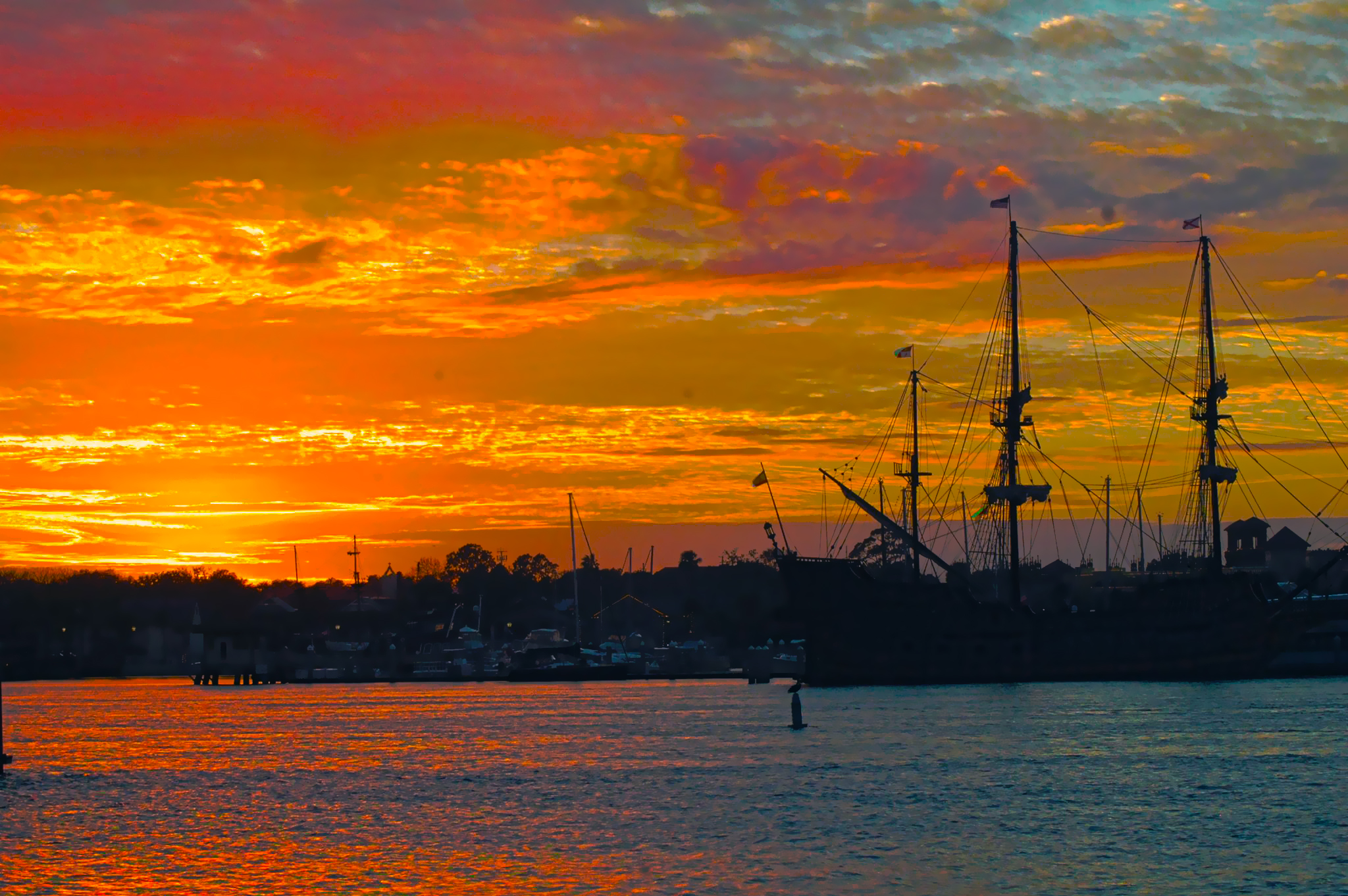 Sunset Over St. Augustine Marina